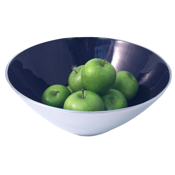 Large Blue Tapered Bowl-0