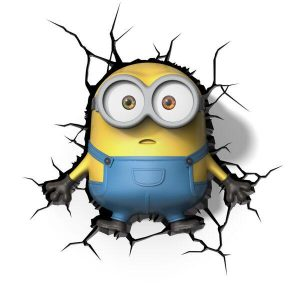 Minions 3D Wall Light - Bob-0