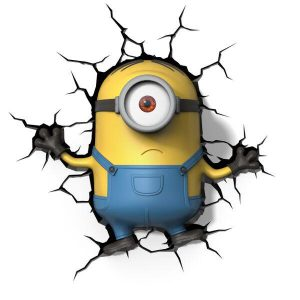 Minions 3D Wall Light - Stuart-0