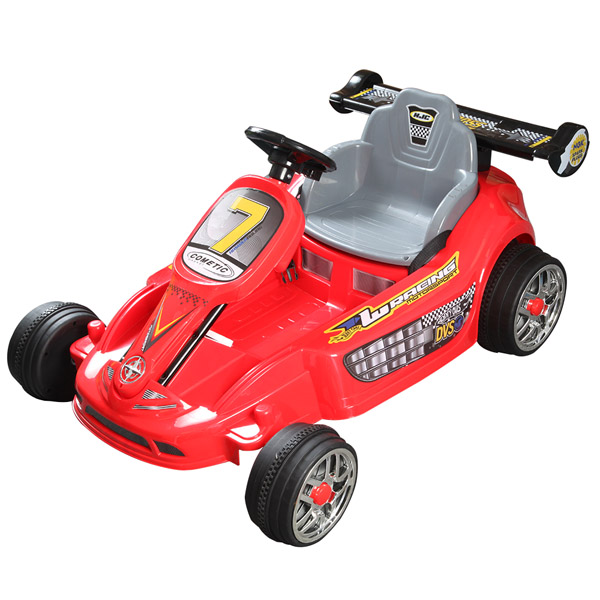 Go Kart Style Ride on Car - Red-0