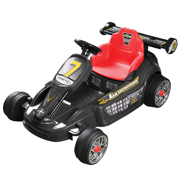 Go Kart Style Ride on Car - Black-0