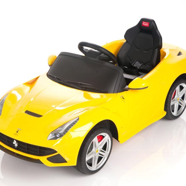 Yellow Ferrari Ride on Car-0