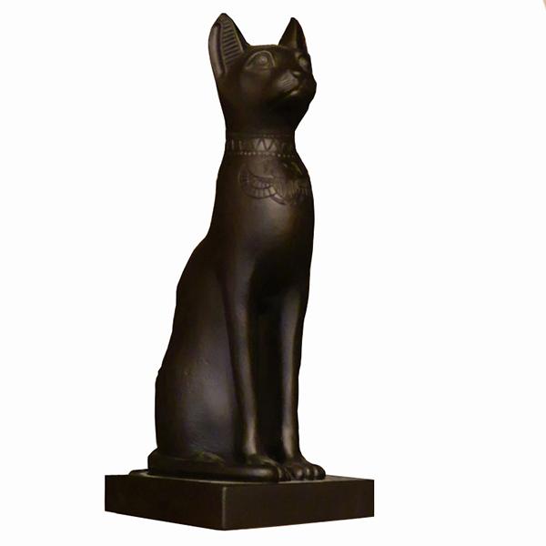 Egyptian Cat Ornament Large Black