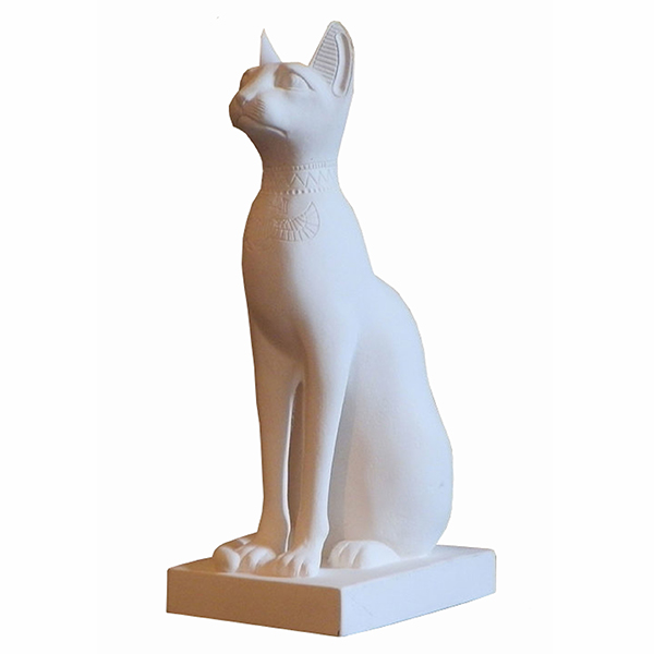 Egyptian Cat Ornament Large White