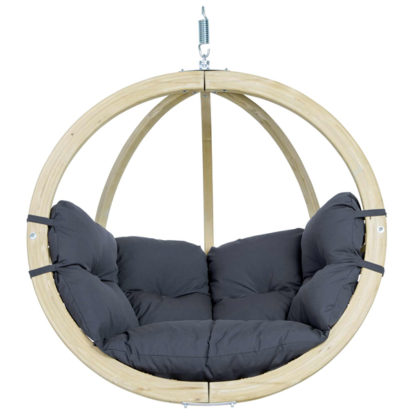 Globo Single Hanging Chair Dark Grey-0