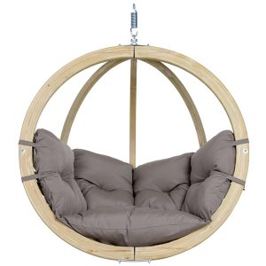 Globo Single Hanging Chair Taupe-0