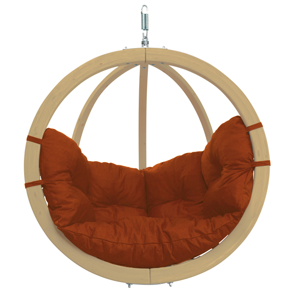 Globo Single Hanging Chair Terracotta-0