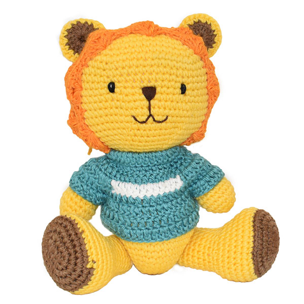 Lion Knitted Soft Toy Blue-0