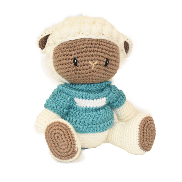 Sheep Knitted Soft Toy Blue-0