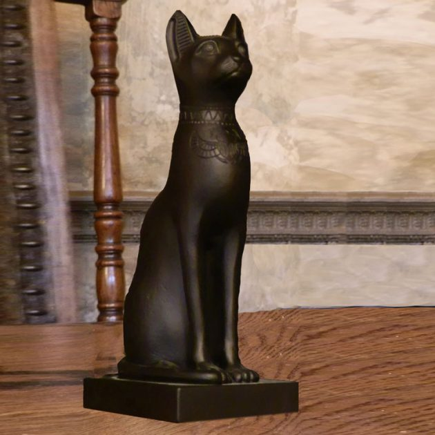 Egyptian Cat Large Black-0