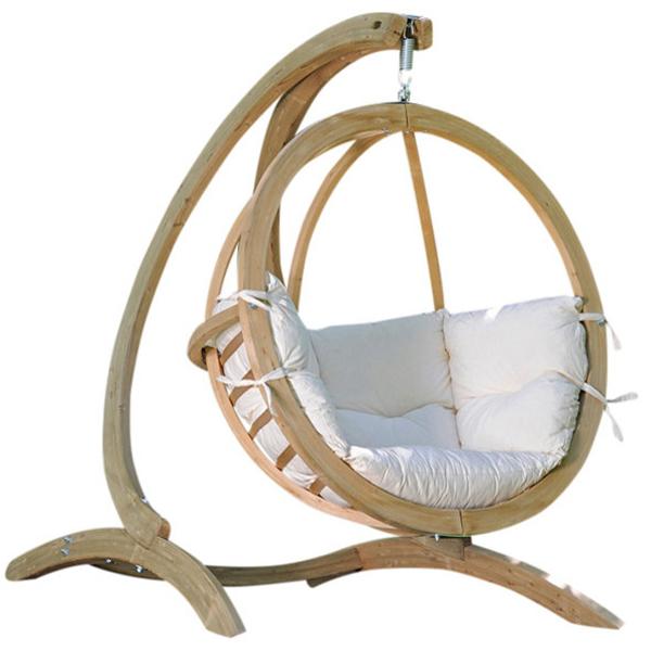 Globo Single Hanging Chair Set Natural