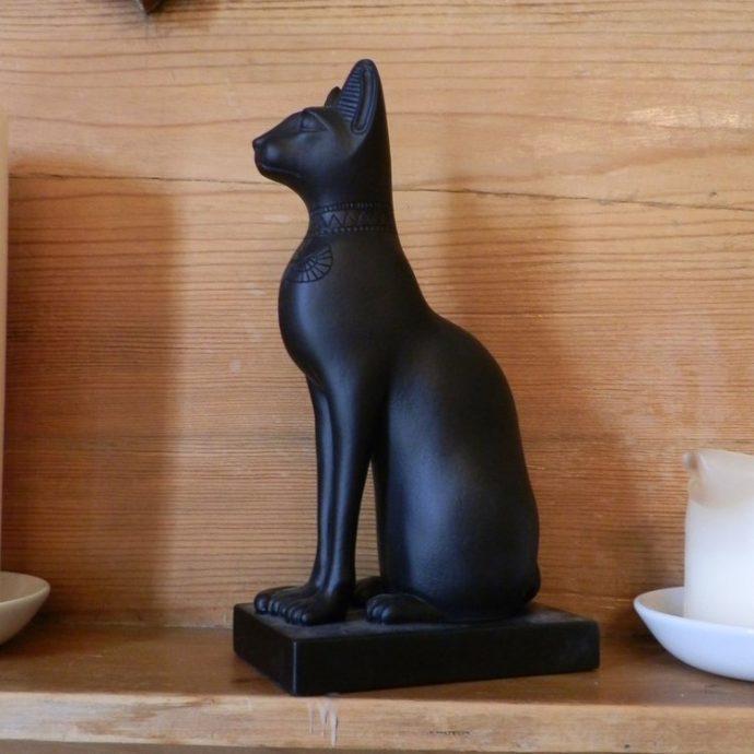 Egyptian Cat Large Black-8565