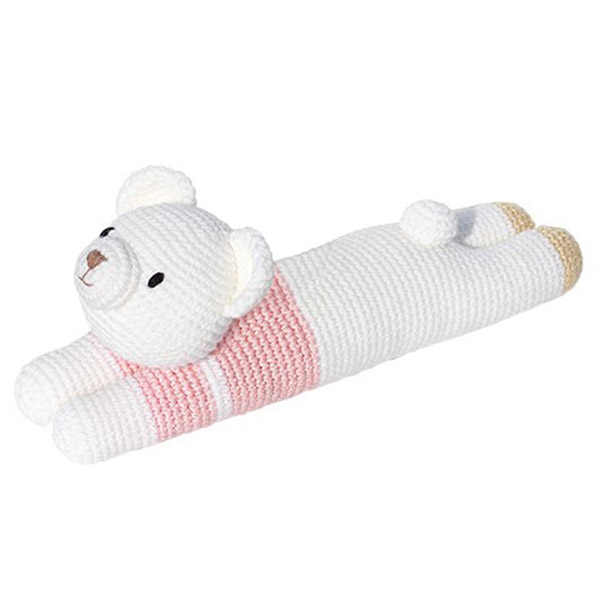 Laying Bear Knitted Soft Toy Pink-0