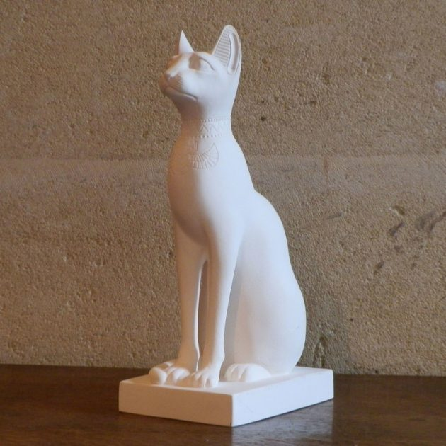 Egyptian Cat Large White-0