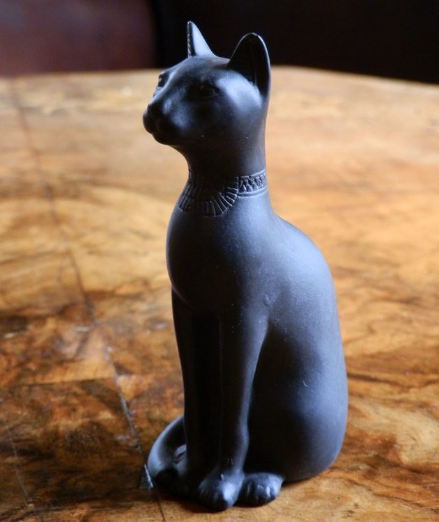Egyptian Cat Small Black-0