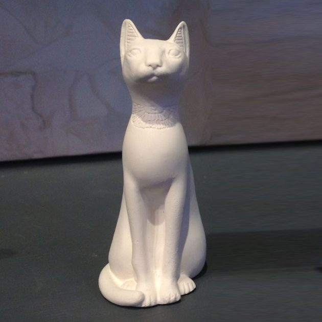 Egyptian Cat Small White-0