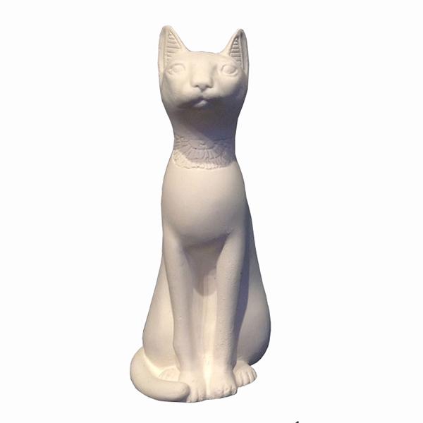 Egyptian Cat Ornament Small White