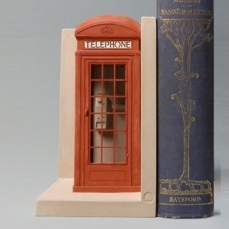 Telephone Box Bookend-0