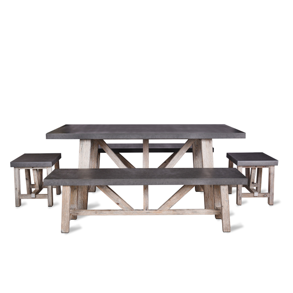 Chilson Bench Dining Set Small