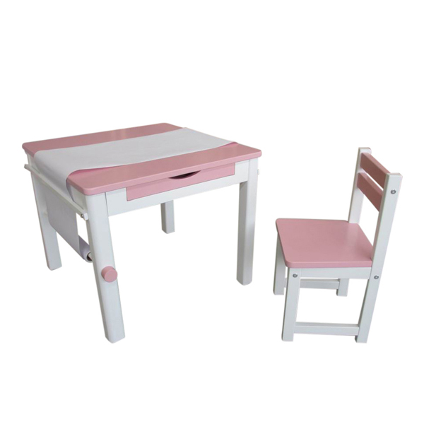 Pink Art Table and Chair-8822