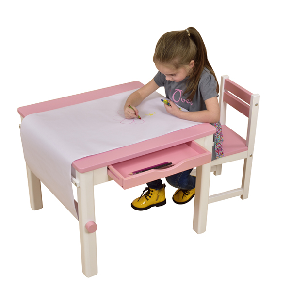 Pink Art Table and Chair-8821