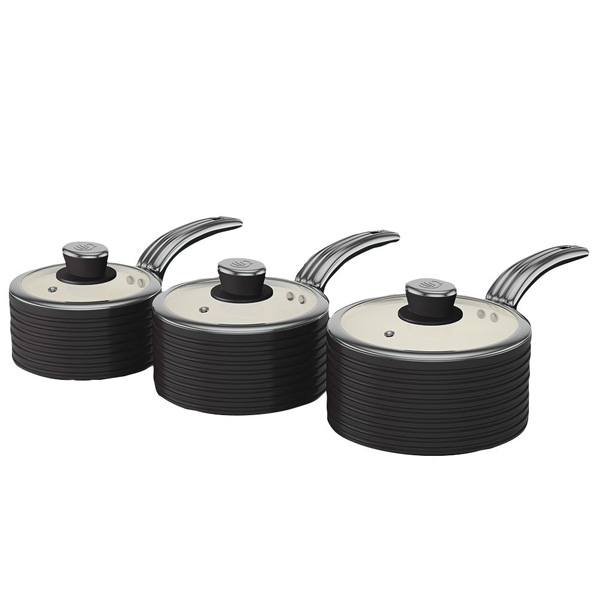 Black Retro Ceramic Saucepans-0