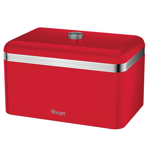 Red Retro Bread Bin-0