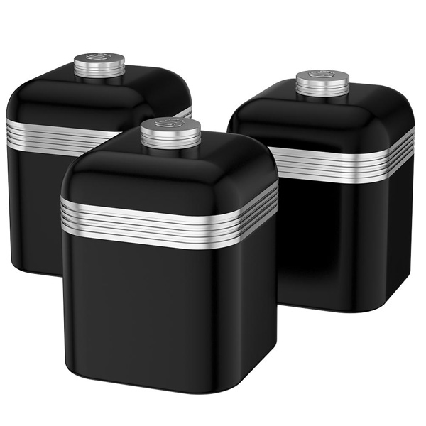 Black Retro Kitchen Canisters-0