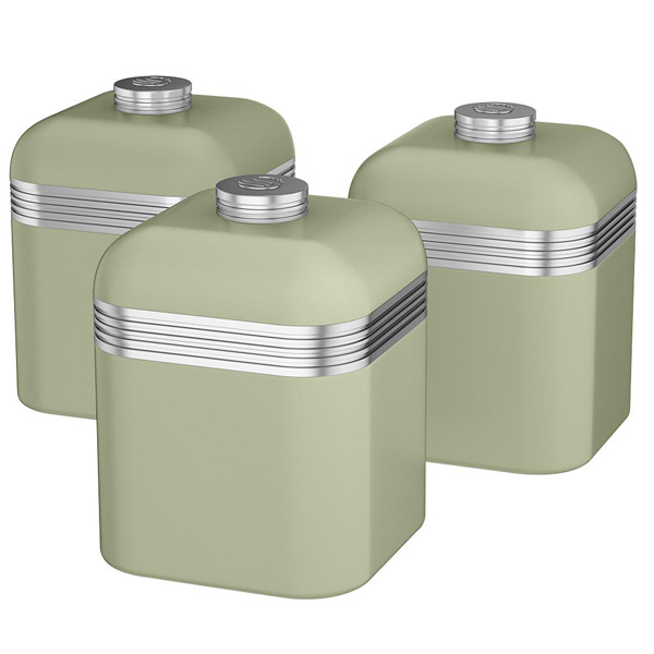 Green Retro Kitchen Canisters-0