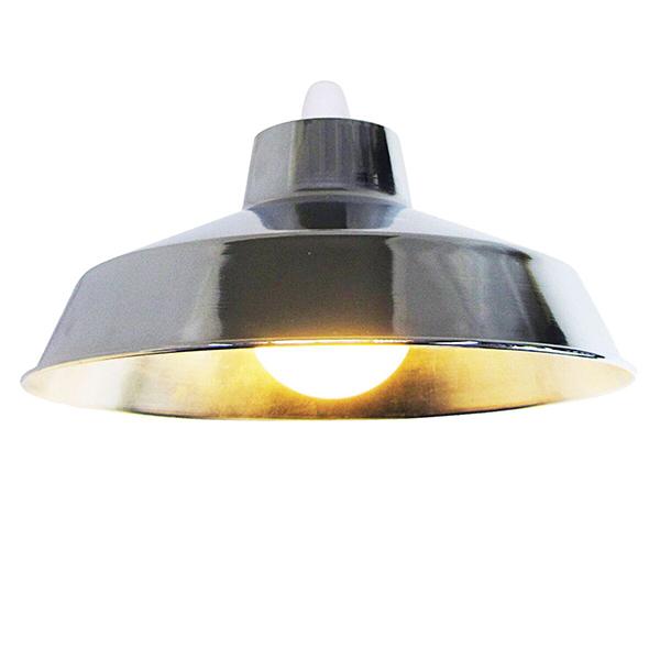 "Metal 14"" Chrome Lampshade"