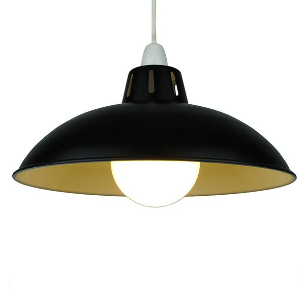 "Funnel 12"" Black Lampshade"
