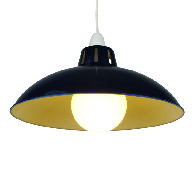 """Funnel 16"""" Navy Blue Lampshade-0"""