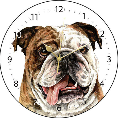British Bulldog Wall Clock-0