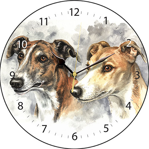 Greyhound Pair Wall Clock