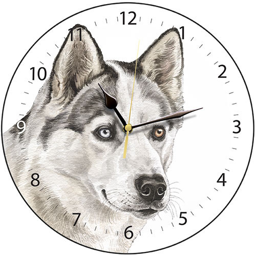 Husky Dog Wall Clock