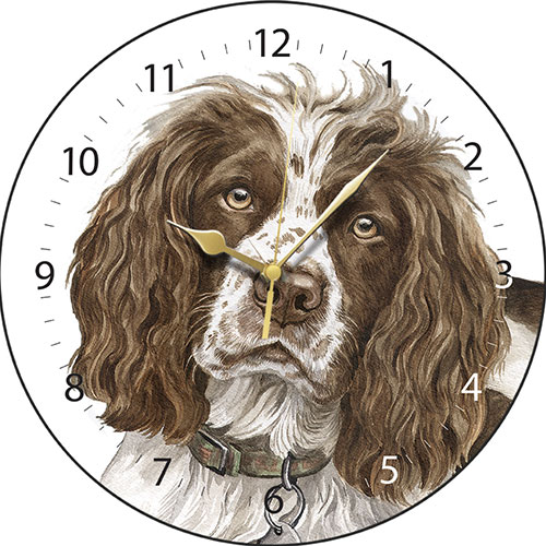 Brown Springer Spaniel Wall Clock
