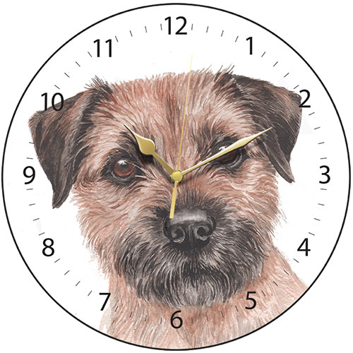 Border Terrier Wall Clock