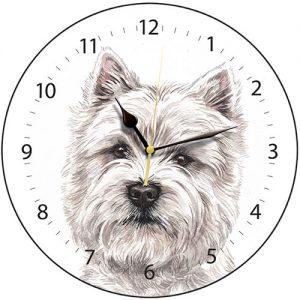 West Highland Terrier Wall Clock