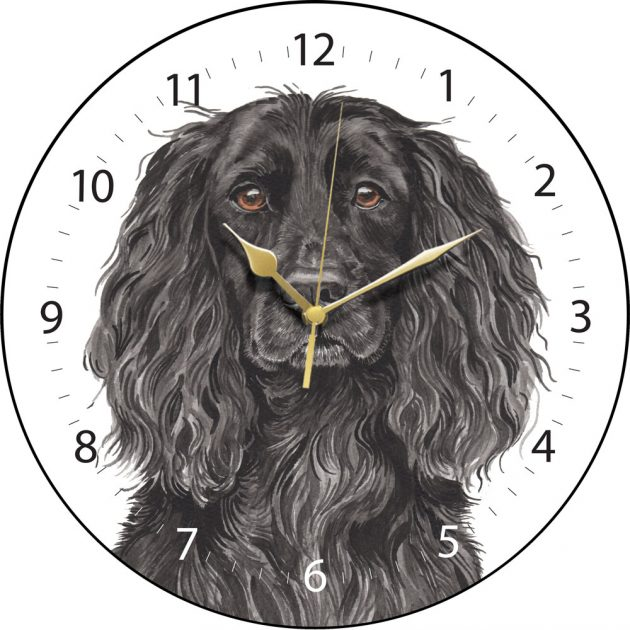 Black Cocker Spaniel Wall Clock-0