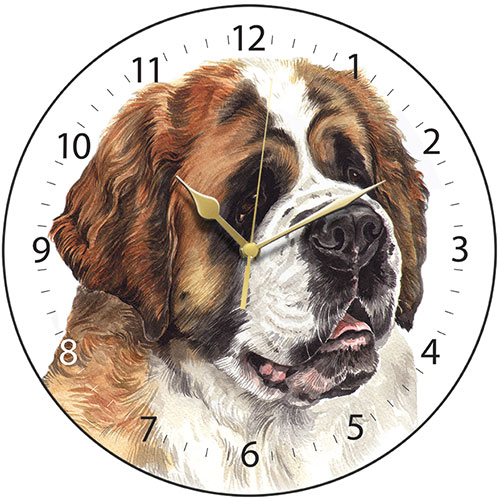 St Bernard Dog Wall Clock
