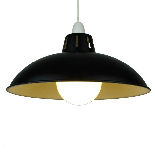 "Funnel 12"" Black Lampshade-0"