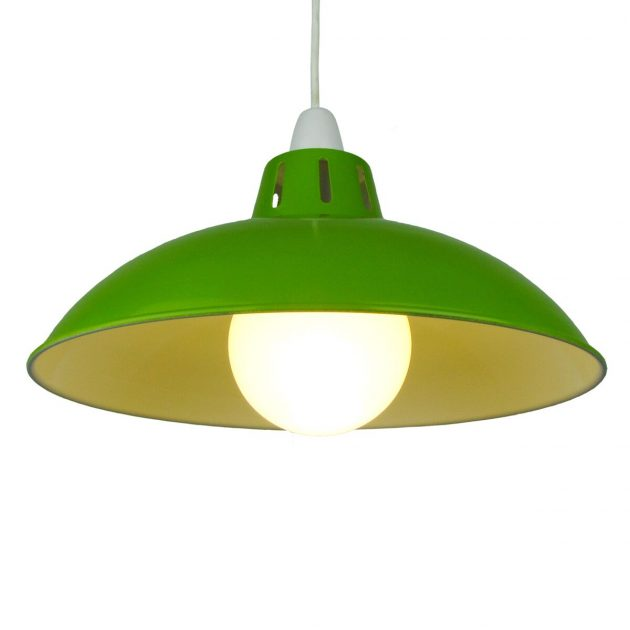 "Funnel 16"" Green Lampshade-0"