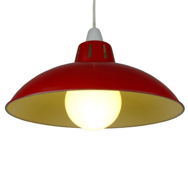 """Funnel 16"""" Red Lampshade-0"""