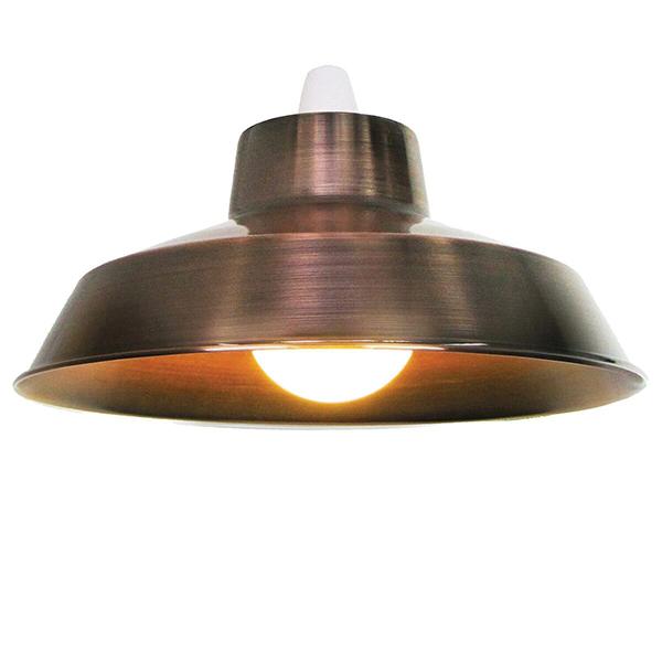 """Metal 14"""" Copper Lampshade"""