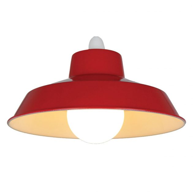 "Metal 12"" Red Lampshade-0"
