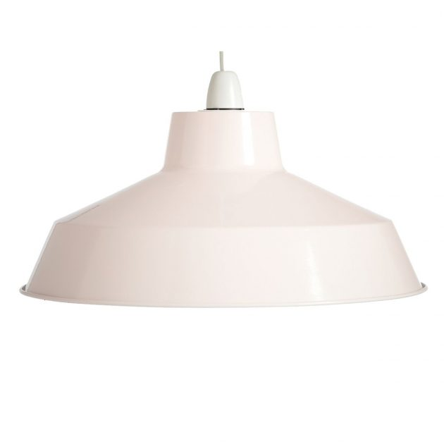 "Metal 14"" Cream Lampshade-0"