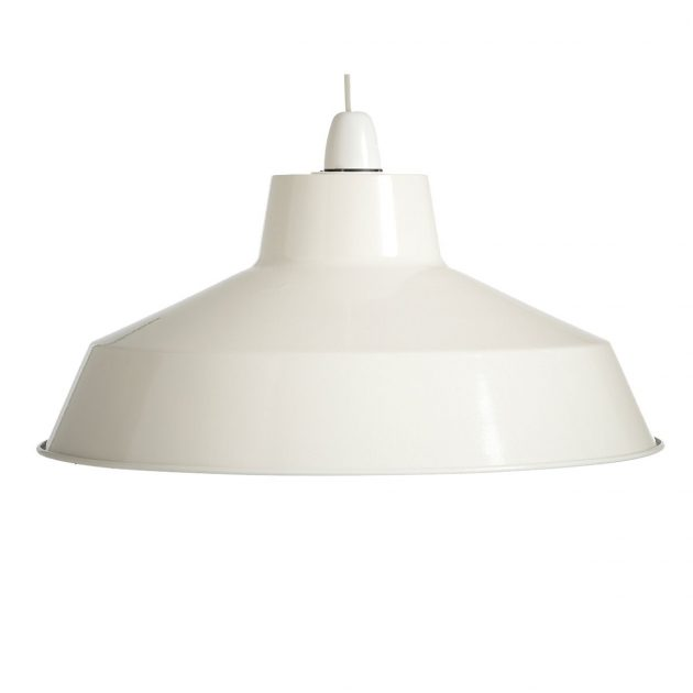 "Metal 12"" White Lampshade-0"