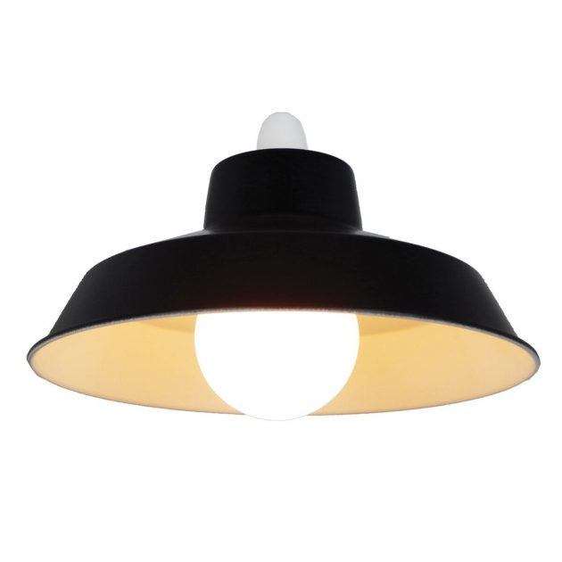 "Metal 12"" Black Lampshade-0"