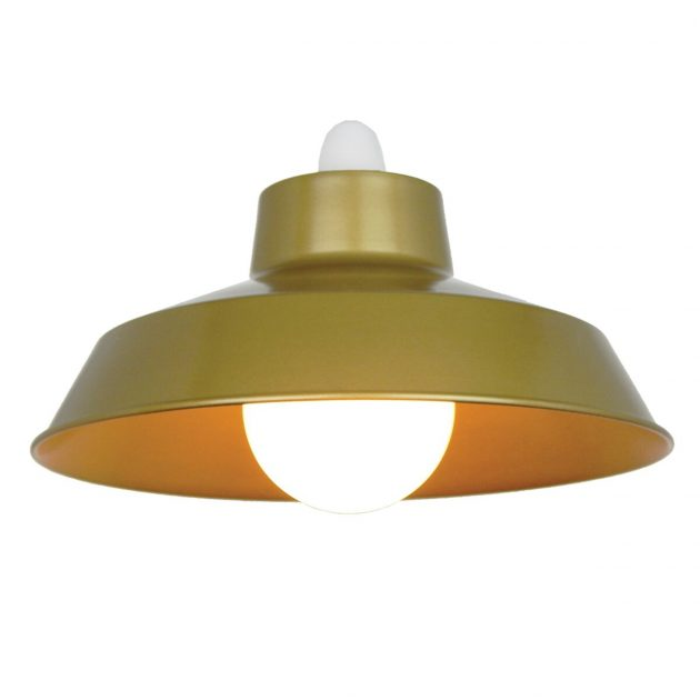 "Metal 14"" Gold Lampshade-0"