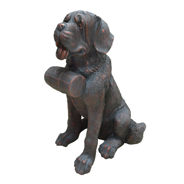 St. Bernard Dog GardenStatue